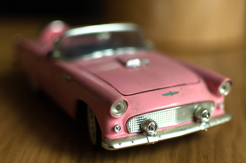 pink oldie car