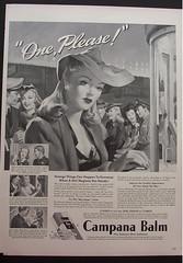 Campana Balm Ad 1943