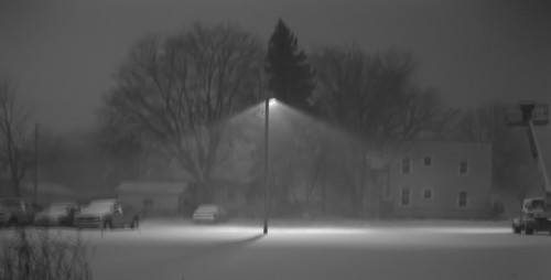Photographing the snowstorm