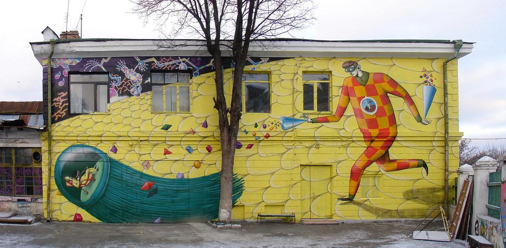 Роспись на домах своими руками 90