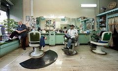 Tonys Barber Shop:  Sunset Park Brooklyn (Chris Arnade) Tags: newyorkcity brooklyn barbershop hairdresser sunsetpark chrisarnade