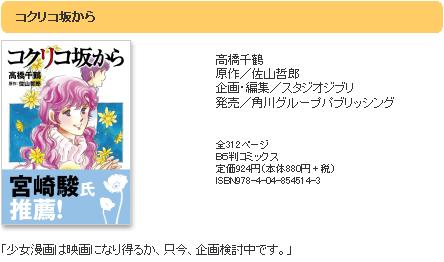101215(1) - 動畫導演「宮崎吾朗」的2011暑假劇場版新作,改編自父親「宮崎駿」推薦的少女漫畫《「コクリコ坂から》!