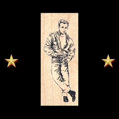 James Dean Wearing Leather Rubber Stamp - Craft Stamps (RubberShow) Tags: man black leather scrapbooking paper james famous rubber stamp jeans famouspeople denim etsy levis rubberstamp rubberstamping jamesdean craftsupplies papercrafts craftstamps
