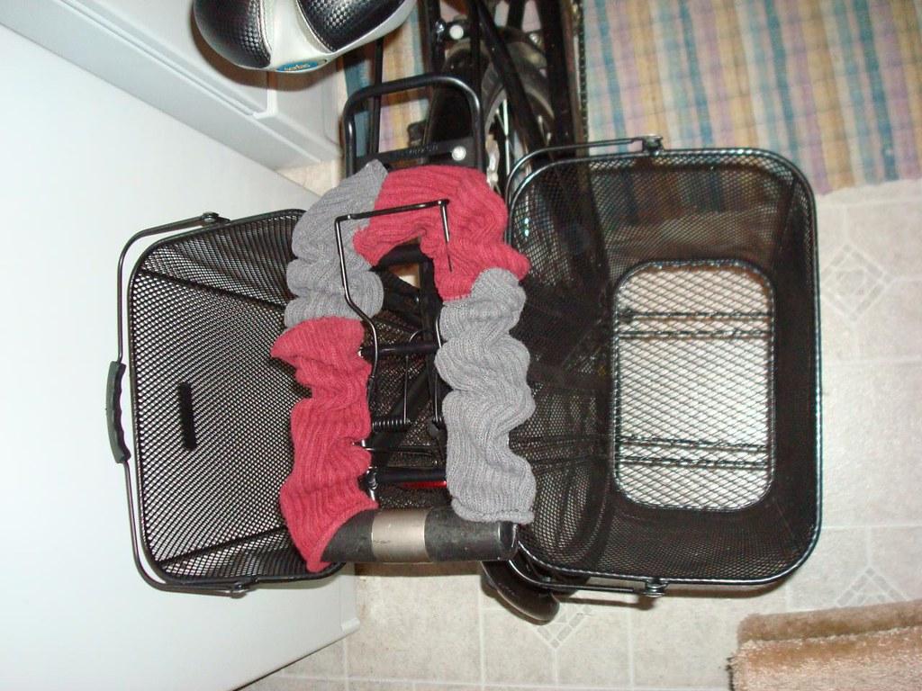 bike baskets - basil panniers