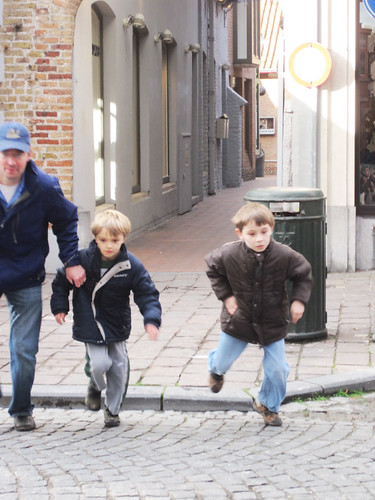 Running through Bruges