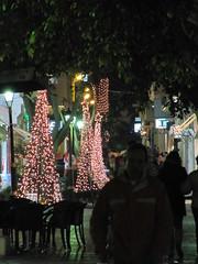 ...also on the pedestrian street. (Ia Lfquist) Tags: christmas street light decoration kreta greece crete gata jul happynewyear dekoration ljus grekland ierapetra