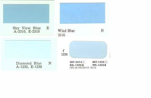 1972 ford blue color compare