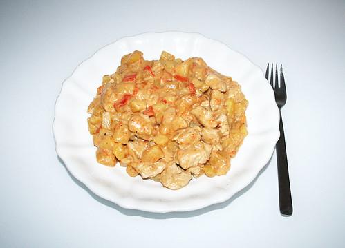 28 - Puten-Kartoffel-Pfanne mit Paprika & Käse - Fertiges Gericht