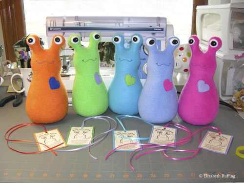 Fleece Hug Me! Slugs by Elizabeth Ruffing