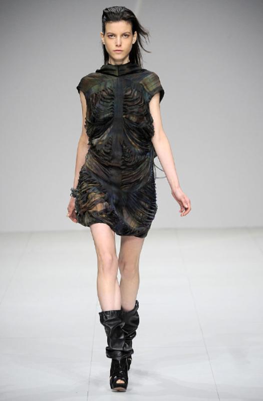 Sharon Wauchob Fall 2010 Slit dress 08