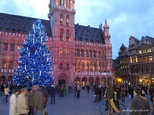 Christmas in Grote Markt - Brussels, Belgium