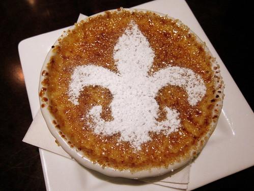 Crème brûlée at Stroubes