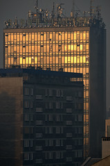 Biprostal Building in the rays of the rising sun (sollyth) Tags: city sunrise buildings concrete nikon poland polska krakow crakow 1001nights krakw cracow beton cracovia krakau miasto d300 budynki krakoff wschdsoca biprostal nikkorafsdx18200f3556gifedvr