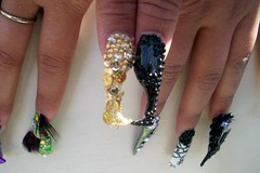 nail art 6 (Bretagne_Revenge) Tags: black art point gold nail jewels