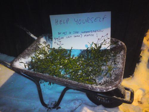 HELP YOURSELF But NOT to the Wheelbarrow (like last year) please!