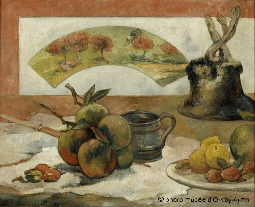 Nature morte à l'éventail, Paul Gauguin , 1889