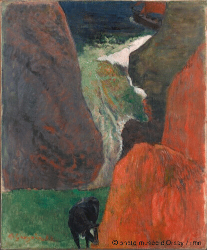Marine avec vache, Paul Gauguin, 1888