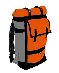 Rolltop Backpack Gray and Orange 4 (monsterpartyhat) Tags: handmade mockup backpack custom rolltop colorways zugsterbags zugster