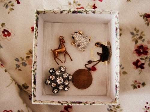 brooches in a box