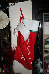 Stockings hung round the fire
