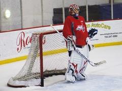 Michal Neuvirth (Backstage VIPs Magazine) Tags: ice hockey arlington virginia washington december caps michal practice 2010 capitals plex kettler iceplex 122710 neuvirth