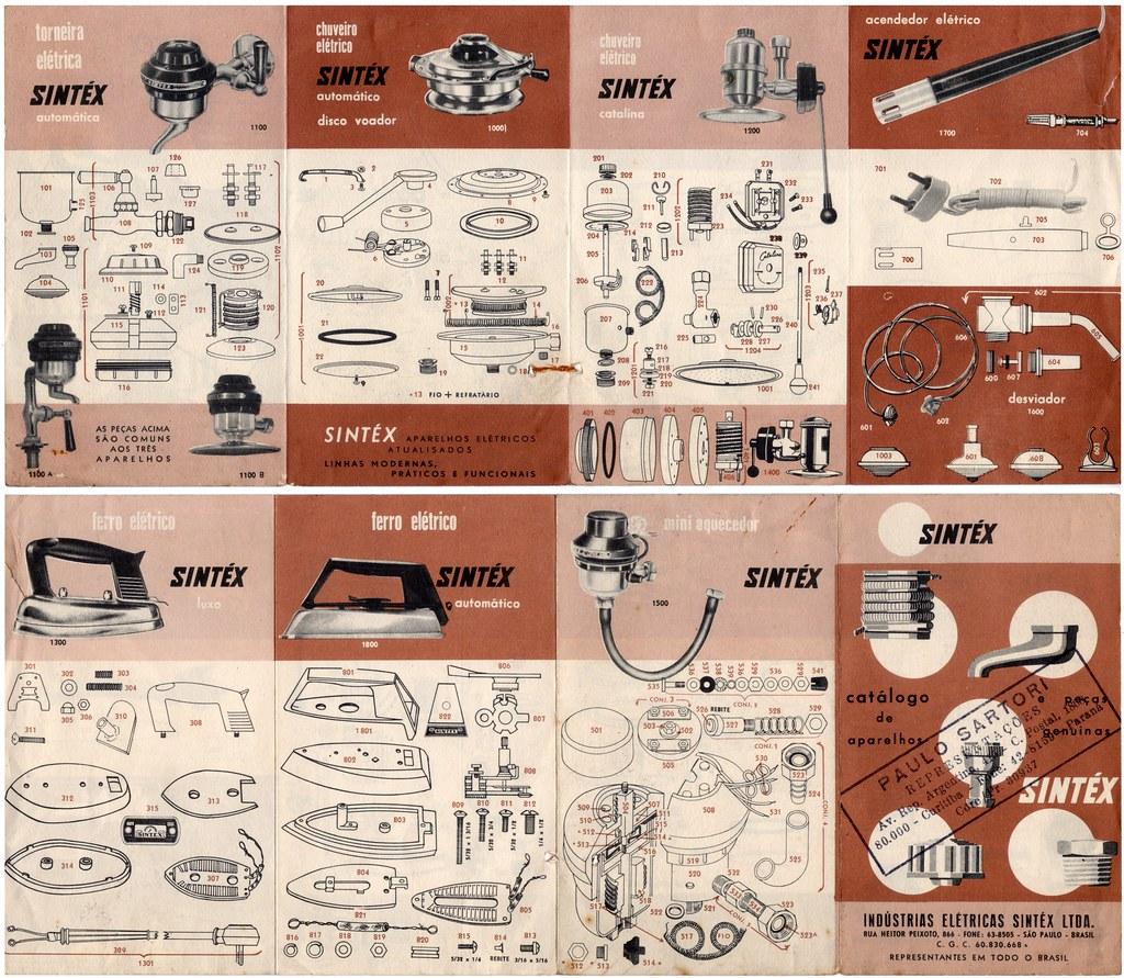 60's catalog - Sintex electric appliances - chuveiros antigos da Sintéx