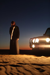 Picture Track (M...Aman) Tags: sunset canon desert mark ii f toyota land l 5d kuwait mm 12 50 70 cruiser arb