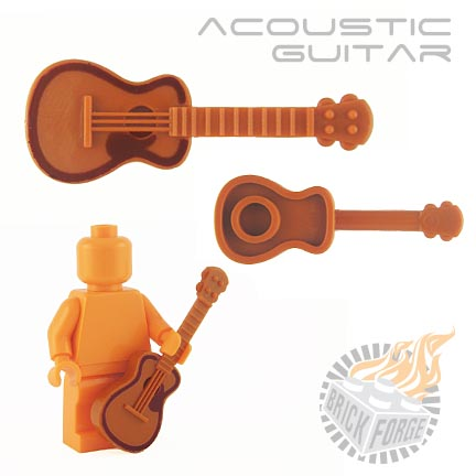 Acoustic Guitar - Dark Orange (brown pickguard/border print)