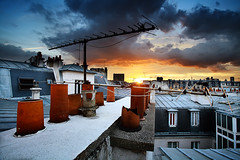 Paris 3 Jan 2011 16:53:59 (Feo David) Tags: roof sunset paris france rooftop view top roofs