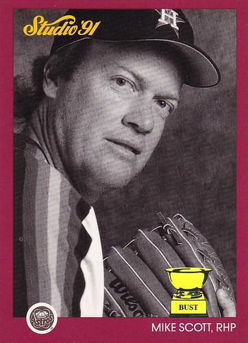 Baseball Card Bust Mike Scott 1991 Studio Studio Saturday No 27