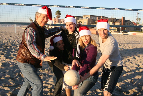 Christmas Eve beach volleyball with Terry, Chea, Will, Christina, and Tom.