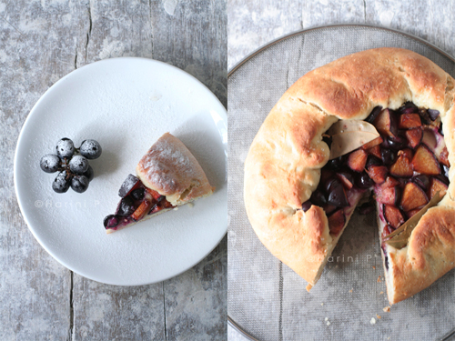 Yeasted fruit galette