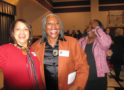 After the energizing dance activity, Deputy Administrator Audrey Rowe and Angela Olige, Deputy Commissioner for the Texas Department of Agriculture, caught their breath and had a laugh.