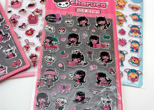 Charuca mini stickers