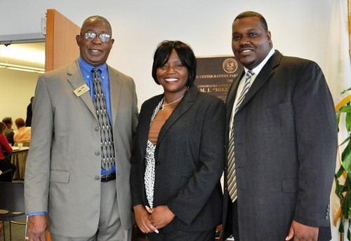 From left to right; USDA Rural Development State Director, Clarence W. Hawkins; USDA RD Director of Community and Economic Development, Stacy Brayboy and Lee Jones, Assistant to the State Director of Louisiana.