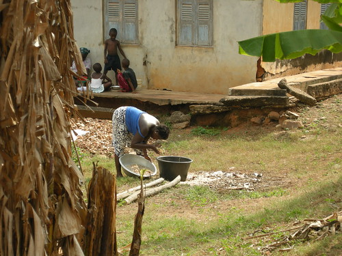 abutia working with millet
