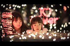 I  Tower (soshiro) Tags: christmas girl japan night canon tokyo bokeh candid illumination tokyotower    eos5d  ef135mmf2l