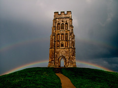 Magical Tor, Land of the Gods (Vide Cor Meum Images) Tags: church rainbow fuji religion somerset christian s7000 celtic avalon pagan glastonburytor beliefs prechristian markcoleman glassisle mac010665yahoocouk videcormeumimages