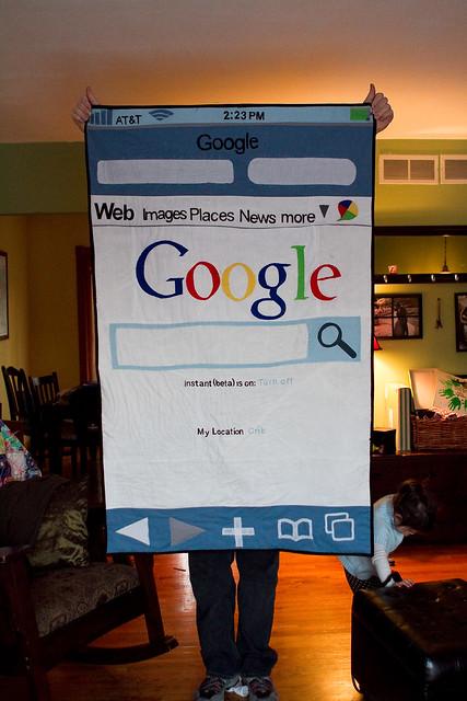 Google iphone quilt