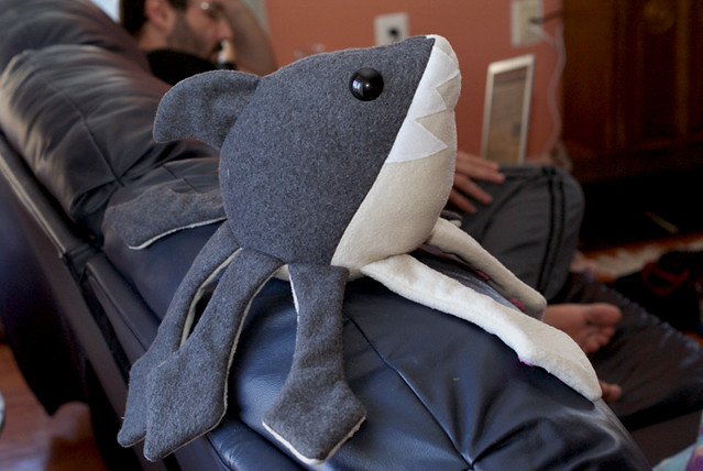 Sharktopus Plush- Watching TV