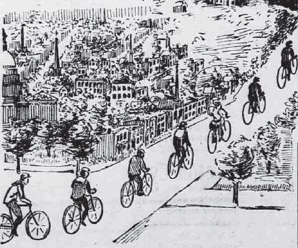 "Bikes (""Wheels"") in DC - 1896"