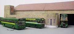 Dorking bus garage diorama (kingsway john) Tags: ds dorking bus garage kingsway models station london transport mb rf rt card kits 176 scale diorama londontransportmodel model oo gauge miniature