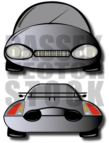 Vector Car - Front and Back (eps)