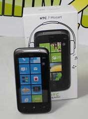 HTC 7 Mozart mit Box Startbildschirm