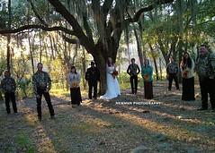 Bridal Party (the_wendy_bird) Tags: wedding horses horse garter groom bride cowboy december florida camo fl cowgirl offbeat 2010 hernando camoflague