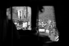 Streetcar View (sirgious) Tags: sanfrancisco street bw window market muni f transit streetcar
