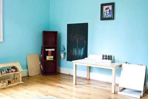 finn and lachlan's studio - art area