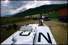 UN presence on Kosovo-Macedonia border (Dan Uneken_) Tags: norway truck army norge border norwegian un macedonia unitednations kosovo conflict balkans apc peacekeepers unprofor norsk sisu kfor