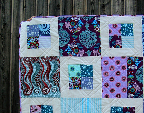 Closeup of the 4-square Innocent Crush Quilt