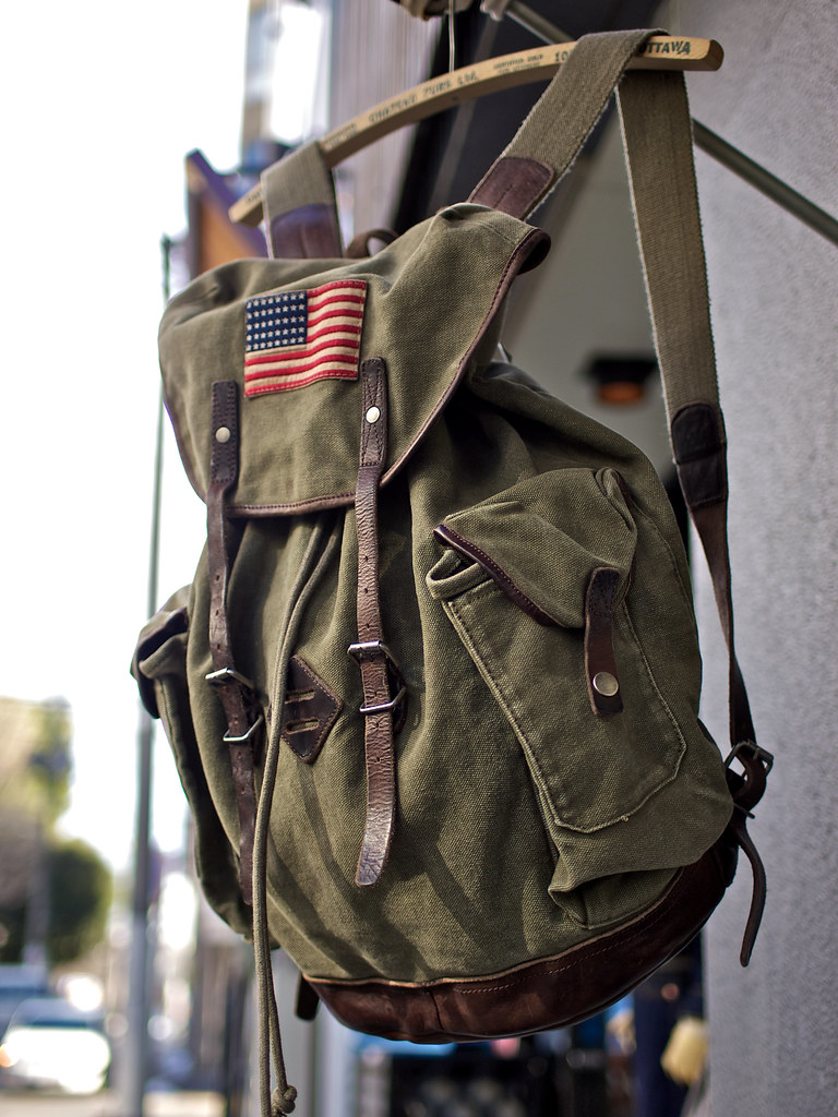 Rugby / Canvas and Leather Backpack